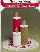 Christmas Ideas Ornaments Coasters Boxes Candles Plastic Canvas Pattern ... - $1.59