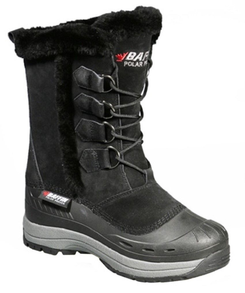 New Ladies Size 10 Black Baffin Chloe Snowmobile Winter Snow Boots -40F
