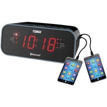 Bluetooth(R) Dual Alarm Clock Radio with 2 USB Charge Ports  - $26.99