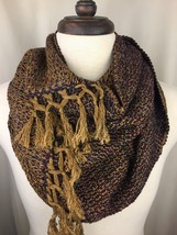 Handwoven Cowl from Hand-dyed Copper Penny Warp - $90.00
