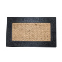 Welcome Mat with Reptile Texture Border - $29.00