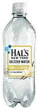 Hal's New York Seltzer Water Vanilla Cream 20 Oz 24 Pack