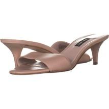 Nine West Lynton Slide Dress Sandals 442, Light Natural, 7 US - $28.79