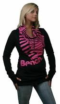 Bench UK Barcode Overhead Black Pink Sweater L Large Shirt - $80.04