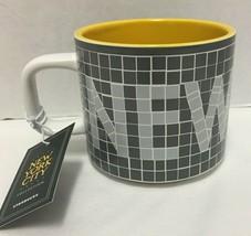 Starbucks Coffee New York City Collection Mug Subway Wall Pigeon Gray 2019 - $37.39