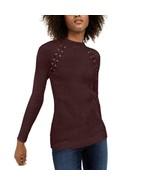 INC Port Long Sleeve Ribbed Mockneck Sweater w/Lace Up Front NWOT XL - $7.60