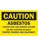 "Brady 22698 Plastic, 10"" X 14"" Caution Sign Legend, ""Asbestos Cancer And... - $12.73"