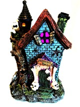 Haunted House LED Color Changing Lights Halloween Holiday Decor 7.5 inches Tall - $18.80