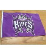 """Sacramento Kings NBA Basketball  Flag 12"""" X 17"""" Licensed - $9.95"""