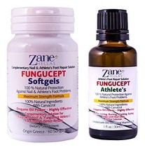 Zane Hellas FunguCept Advanced. Athlete's Repair Solution. Relieves Itching, Bur