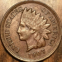 1907 USA INDIAN HEAD SMALL CENT PENNY - $20.64