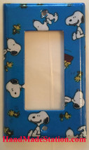 Peanuts Snoopy Woodstock Light Switch Power Outlet Wall Cover Plate Home Decor image 3