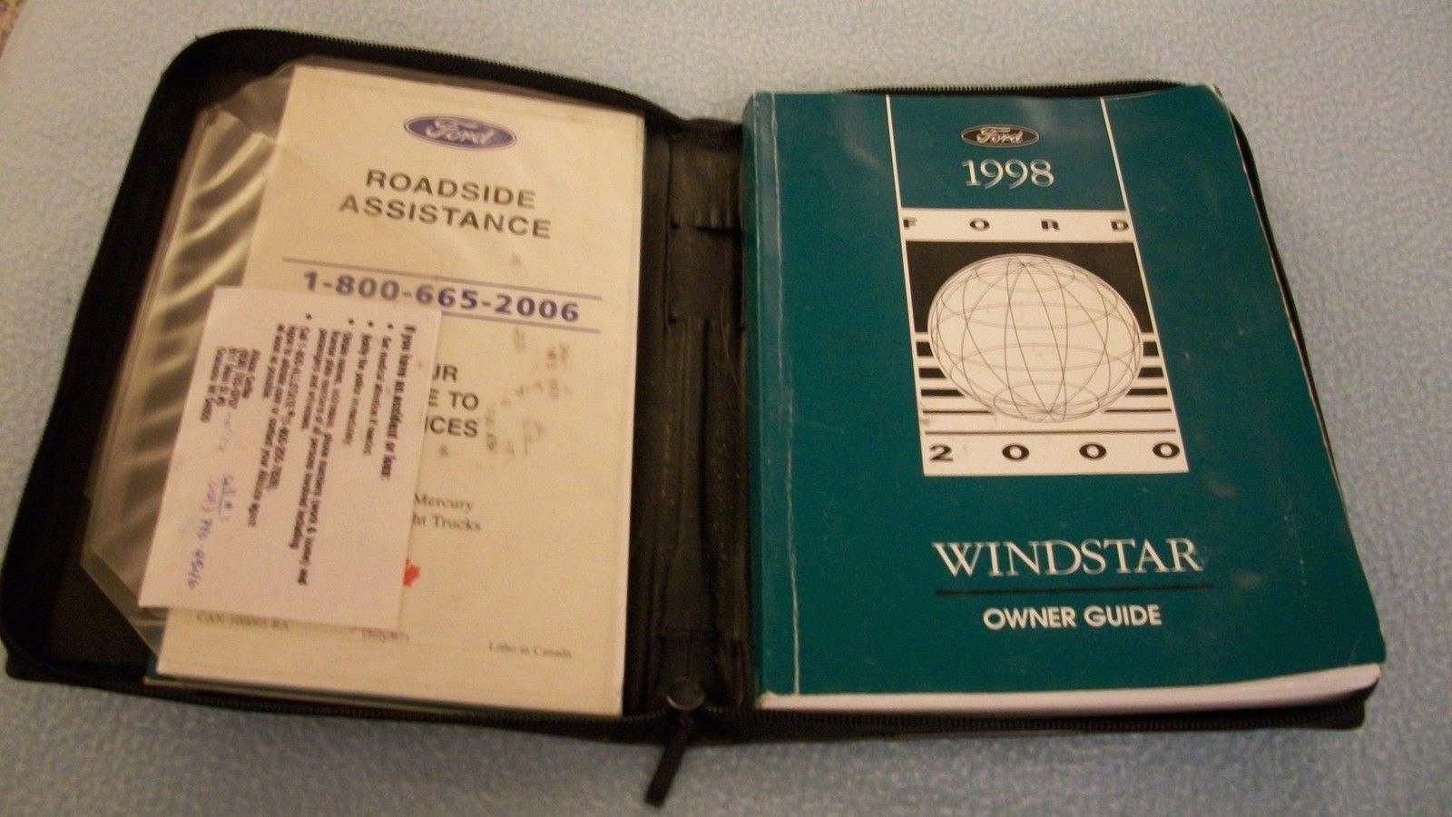 1998 ford Windstar owners manual with binder