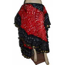 25Yard Tribal Gypsy Durga Skirt~Rich Red,Black&Burgundys~ - $99.99