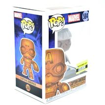 Funko Pop! Marvel Captain America Entertainment Earth Exclusive Wood Deco #584 image 5
