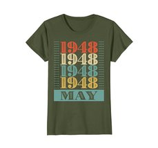 Funny Shirts - Retro Classic Vintage May 1948 70th Birthday Gift 70 yrs old Wowe image 2