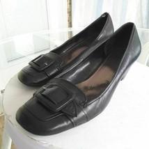 Franco Sarto Womens Fabbro Classic Pump Cone Heels Black Slip On Moc Toe... - $30.99
