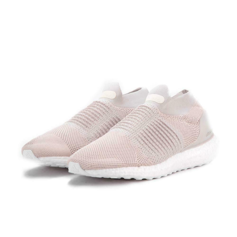 Adidas Ultraboost Men Laceless Shoes BB6145 Mid Chalk Pearl Sneakers Sz 10 , 11