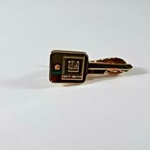 "Vintage GM Tie Clip 1.5"" Long Gold Tone Metal Hickok USA Automotive Collectible - $9.85"