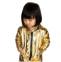 Autumn bomber Jacket Stage Performance Wear Hip Hop dance coat for kids - $19.00