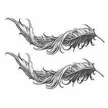 Black Temporary Tattoos Feathers Fake Body Tattoos Creative Tattoos Stickers