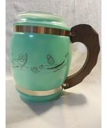 Vtg Mid Century Modern Siesta Ware Turquoise Surf Tiki Cookie Jar Mug No... - $29.95