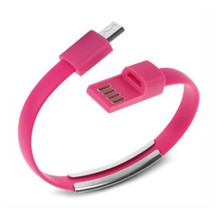 Micro USB To USB Cable Bracelet Data Sync Cord For Samsung Android Pink AB6