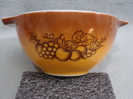 Vintage Pyrex Old Orchard Mixing Bowl, Brown 1 1/2 pt  #441 Good Used Condition - $6.95