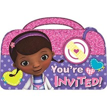 Doc McStuffins Disney Cartoon Doctor Kids Birthday Party Invitations - $9.17