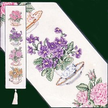 High Tea Floral Bell Pull Counted Cross Stitch Kit Elsa Williams Bellpull - $26.98