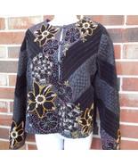 Sandy Starkman new Jacket Embellished Beaded sz ~ S / M Black Velvet NWT... - $45.00