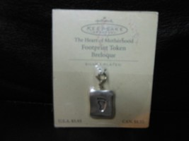 "Hallmark Keepsake ""Heart Of Motherhood- Footprint Toke"" Silver Pendant 2... - $2.43"