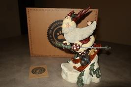 "Boyds Bears Skiing Santa Figurine ""Santa . . . In the Nick of Time"" - $35.00"