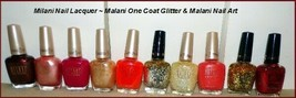 New Milani Specialty Nail Lacquer Glitter~Matte~3D Holographic (Choose Color) - $6.25