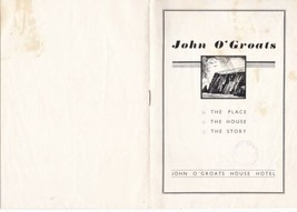 John O'Groats House Hotel Illustrated Booklet Ref 35656 - $7.59