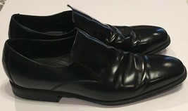 Cole Haan Black Leather Slip On Loafers Shoes Mens 11 M NikeAir Dustbag - $37.39