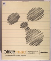 Microsoft OFFICE MAC V.X With 2004 Upgrade Disc Software Mac OS X DVD CI... - $14.84