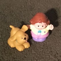 Fisher Price Little People PUPPY DOG w/ HEART COLLAR  1997 - Yellow Lab ... - $9.49