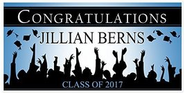 Class of 2017 Graduation Banner Personalized Congratulations Graduate Pa... - £17.34 GBP