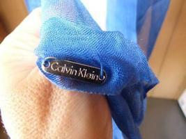 $34.00 Calvin Klein Crepe Infinity Loop Scarf, Aegean image 5
