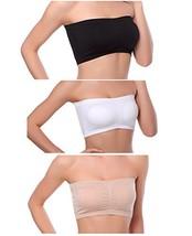 Venbond 3-4Packs Women's Seamless Bandeau Crop Tube Top Bra Strapless Pa... - $18.23