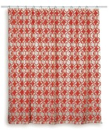 Rizzy Home Geometric Shower Curtain - Red/White - 72 Inch x 72 Inch - $9.75