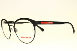 NEW AUTHENTIC PRADA VPS 52H DG0-1O1 BLACK EYEGLASSES FRAME RX 50-19 140 - $96.62