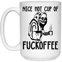 Skull Nice Hot Cup Of Fuckoffee 21504 15 oz. White Coffee Mug - $13.95+