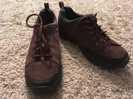 Lands End Mens Brown Suede Hiking Boots, Size 10D - $29.99