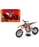 KTM 450 SX-F Dirt Bike Orange and White 1/10 Diecast Motorcycle Model by... - $29.95