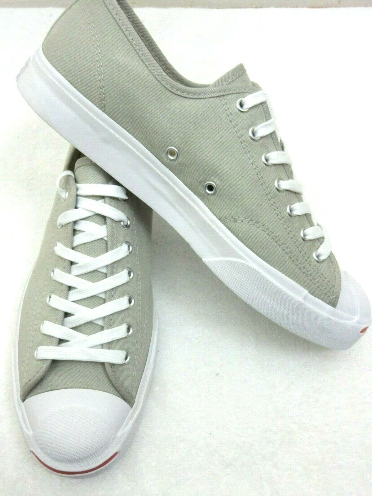 Converse Mens Jack Purcell OX Canvas Birch Bark White Habanero Red Shoes 10.5 image 5