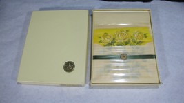 Vintage HALLMARK Stationery Yellow Flowers 60 sheets 40 Envs. Sealed NEW... - $13.98