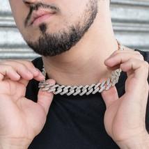 Men's 18k Gold Diamond Cuban Link Chain Choker Necklace - $129.99+
