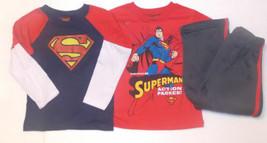 Superman Toddler Boys 3pc Set Long & Short Sleeve T-Shirts Pants Set Siz... - $19.19